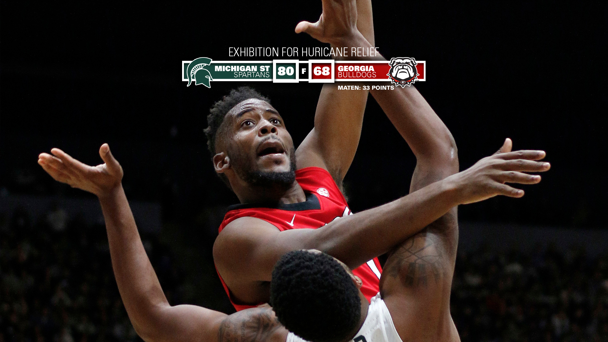 Georgia vs. Michigan State men's basketball exhibition game. (Photo from Georgia Sports Communication)