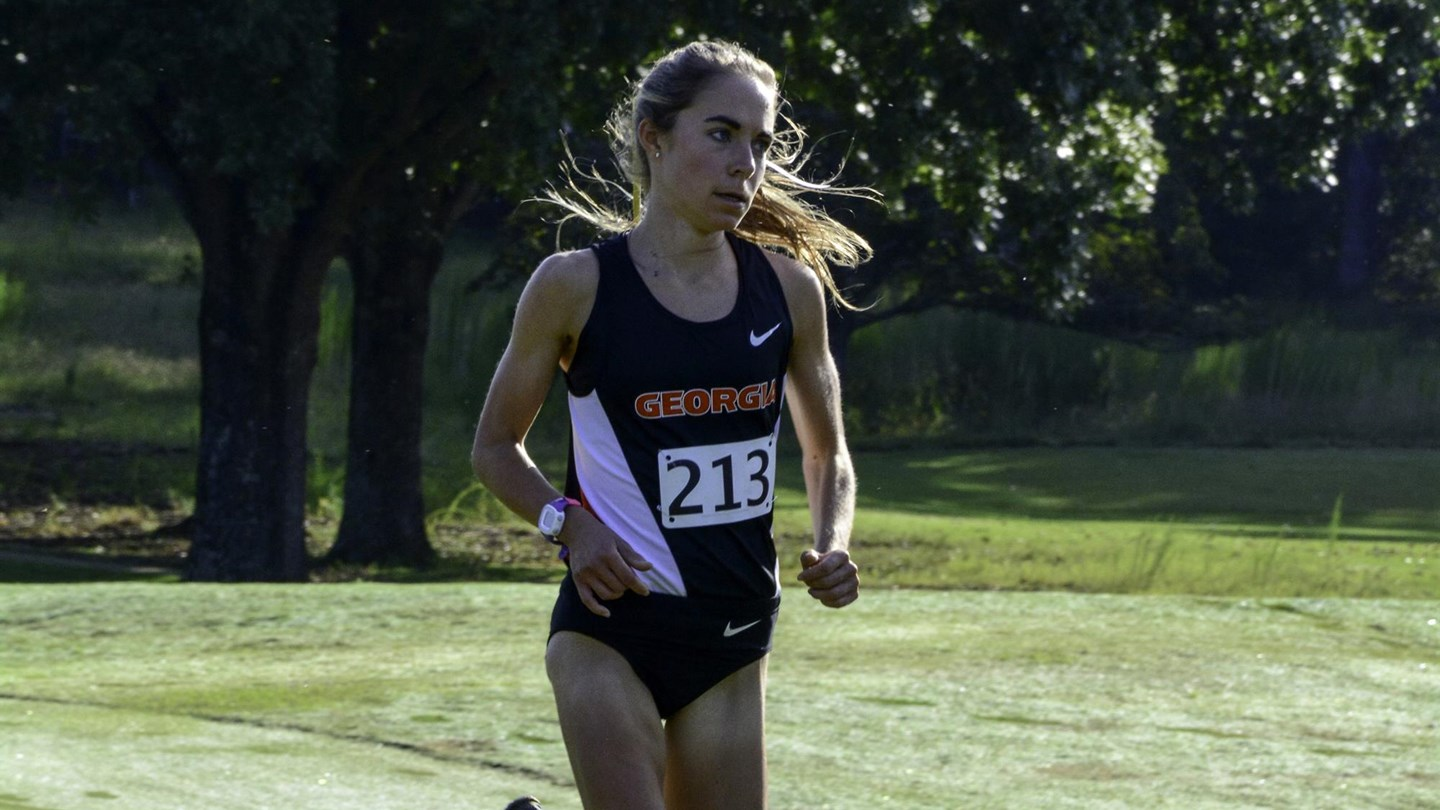 Sam Drop  - Georgia Women's Cross Country Team -  (Photo from Georgia Sports Communication)
